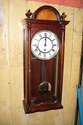 Wall Clock Comitti  Of London  Westminster Key & Pendulum  Working
