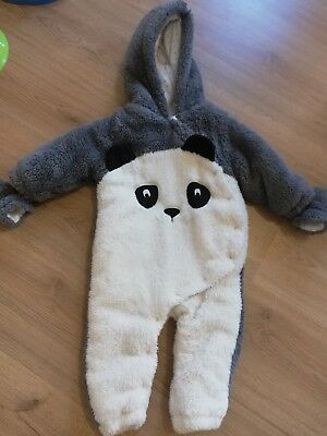 Baby Girl Panda Pramsuit Aged 12-18 Months From Next
