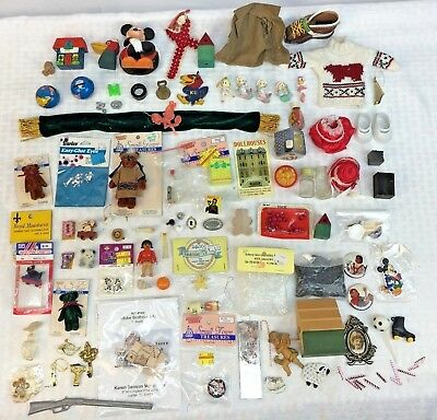 LOT of DOLLHOUSE MINIATURES mini Accessories & Crafting 1:12