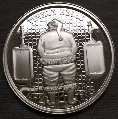 Unique Rare Tinkle Bells Christmas 100 Mills .999 Fine Silver One 1 Oz Coin!