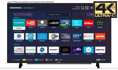 Grundig 49VLX7100BP LED TV 49 Zoll, UHD 4k, Smart-TV, Wlan Triple-Tuner DVB-T2