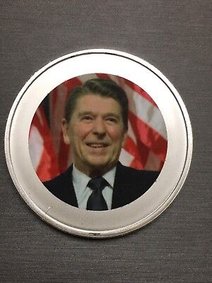 Unique Rare Ronald Reagan 100 Mills .999 Fine Silver One 1 Oz Coin!