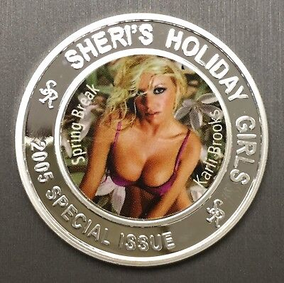 Beautiful Rare Bunny Ranch 100 Mills .999 Fine Silver One 1 Oz Naughty Nude Coin