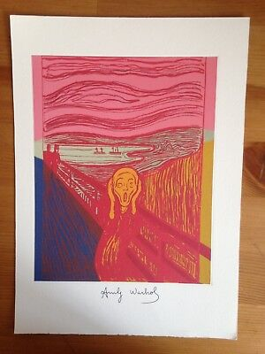 ANDY WARHOL Superb  Litograph  Hand Signed in Pen
