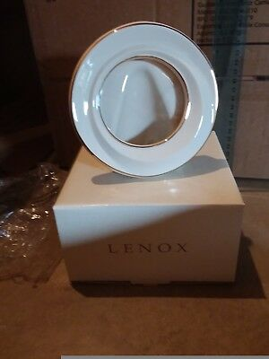 Lenox Picture Frame Ivory and Gold Round COA 24K Gold Trim Brand