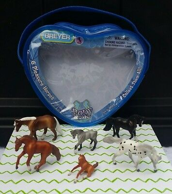 7 Piece Lot: Breyer® Mini Whinnies *PLEASURE HORSES* w/ Zippered Case