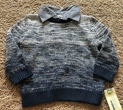 NWT Boy's Blue Long Sleeve Sweater 18 Months