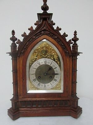 Junghans Wooden Case Mantel Clock (German) Free Shipping In Mainland England