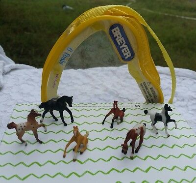 7 Piece Lot: Breyer® Mini Whinnies *FOALS* w/ Zippered Case