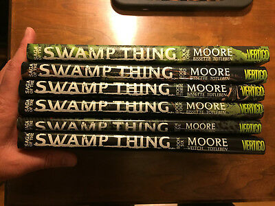 Saga of the Swamp Thing by Alan Moore Hardcover Complete Set Lot 1 2 3 4 5 6 HC
