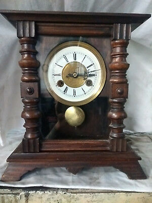 Working Antique Dark Mahogany Junghans, Chiming,  Mantel/Bracket Clock.