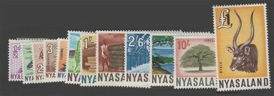 NYASALAND QEII Scott 123-134 SG199-210 Mint Hinged