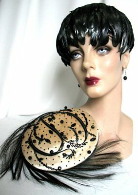 Very Dramatic!! Vintage 60's Lot of 2 Glamour Hats VG Condition!