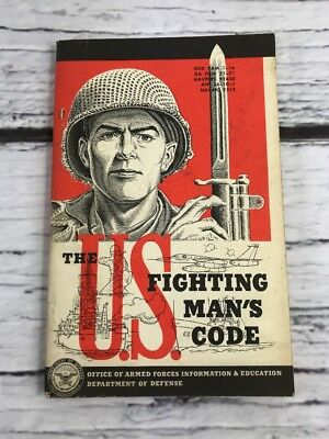 """Vintage 1955 """"The US Fighting Man's Code"""" Department of Defence"""