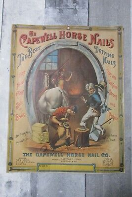 The CAPEWELL HORSE NAIL Co Advertising Print Horse Shoe PRINT HTF