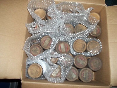Lot Of 22 Antique Edison Gold Moulded Record Cylinders Used, Dirty