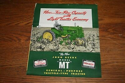 1949 John Deere Model MT General Purpose Sales Brochure Colorful