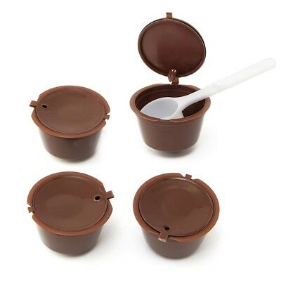 4x Reusable Coffee Capsules Cup Filter For Dolce Gusto Refillable Brewers N L7C1