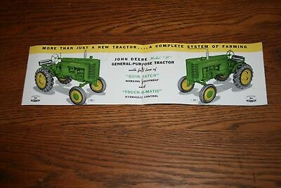 1949 John Deere Model M General Purpose Sales Brochure Colorful