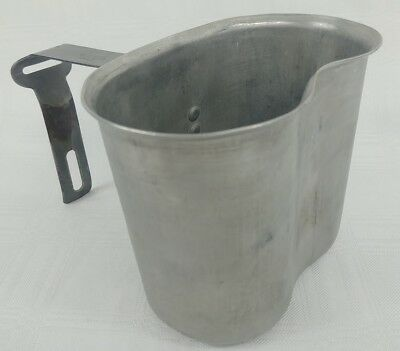 VINTAGE US WORLD WAR II 1945 BECO Canteen Cup Aluminum mess cup camping gear