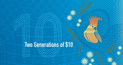 2017 RBA Official Folder Two Generations of $10 Unc Pair ( ONLY FOLDER )