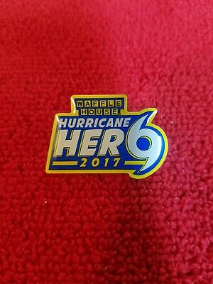 "Waffle House Exclusive Pin - New - 2017 ""hurricane Hero"" - Limited Stock"