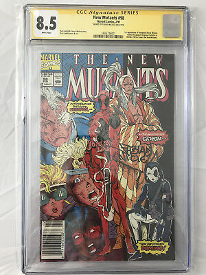 New Mutants 98 CGC 8.5 SS Fabian Nicieza 1st Appearance of Deadpool