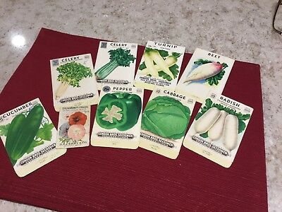 Vintage Condon Bros. Seed Packets Advertising Rockford IL