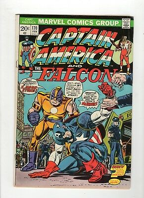 Captain America #170 VG- 3.5 Off White to White Pages