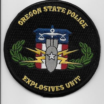 Bomb Squad EOD Oregon State Police patch OR