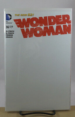 Wonder Woman #36 Blank Sketch Variant Cover Dc Comics New 52 2014