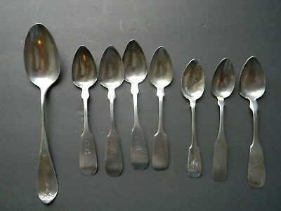 ANTIQUE COIN SILVER SPOON LOT by D.B.HEMPSTEAD NEW LONDON CONNECTICUT
