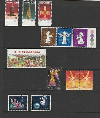 Christmas Island Christmas Stamps, MUH & Used. See Description Below.See Photo