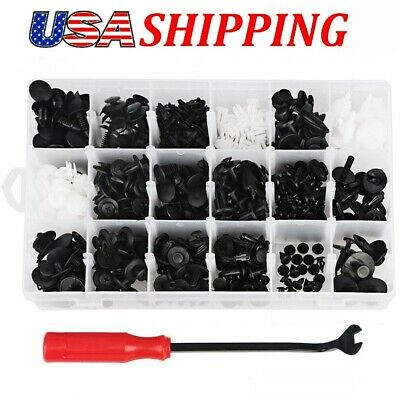 415Pcs 18Sizes Clips Rivets Fastener Retainer Panel Bumper W/ Free Remover Tool
