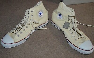 NEW Converse Chuck Taylor All Star Hi Top Sneakers X9162 Unbleached White Canvas