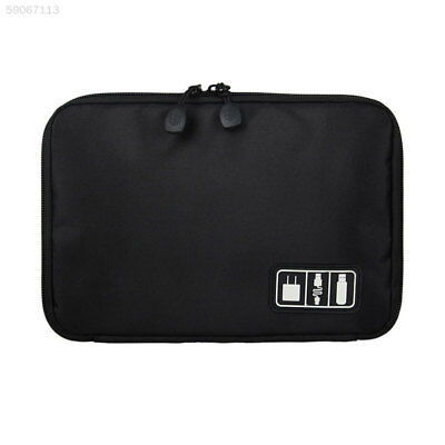 Travel Electronic Accessories Cable USB Drive Organizer Bag Insert Case Black