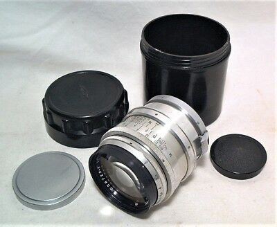 Russian Jupiter 8.5Cm (85Mm) 1:2 Portrait Lens - Clean W/ Original Caps & Case