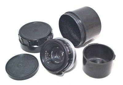 Russian Jupiter 35Mm 2.8 Fast Wide Angle Lens - Clean W/ Original Caps & Case