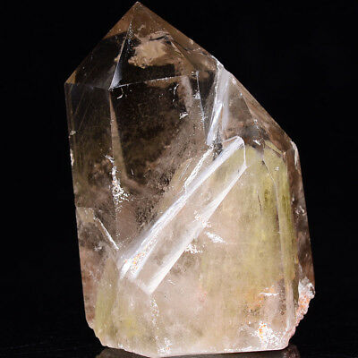 Natural Citrine Crystal Obelisk Healing with Green Volcanic Mud 11.3oz 3.4in