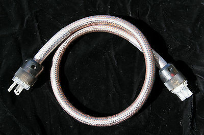 1m JB Audio Silver plated Copper 8 AWG IEC AC power cord teflonPE/PVC insulation