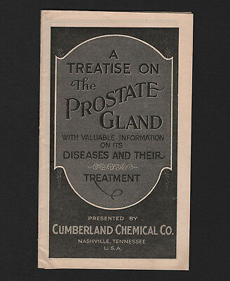 OPC 1926 A Treatise on the Prostate Gland Cumberland Chemical Co 17pg Booklet