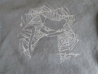 emily the strange blouse with cat design in a spiderweb in S/P