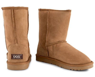 OZWEAR Connection Unisex Classic 3/4 Ugg Boot - Chestnut (S302)