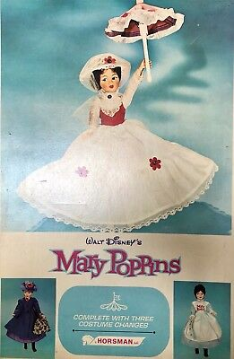 DISNEY's MARY POPPINS  HORSMAN DOLL W/BOX 3 OUTFITS & JANE & MICHAEL DOLLS 1965