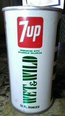 7Up Wet & Wild The Uncola Soda Pop Can Solder Seem Collector Edition Holland Mi