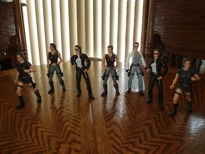 """LOT OF (7) LARA CROFT TOMB RAIDER ACTION FIGURES - 6"""" Tall From Adult Collection"""