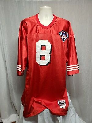 0e50c9c4e Mitchell   Ness San Fran 49ers Steve Young  8 Throwback Jersey 1994 75th Sz  58