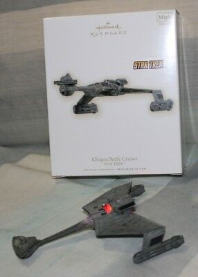 Hallmark Christmas Ornament STAR TREK Klingon Battle Cruiser *Pre-Owned*