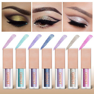 Women Waterproof Shimmer Eyeshadow Glitter Liquid Eyeliner Cosmetic Makeup Tool