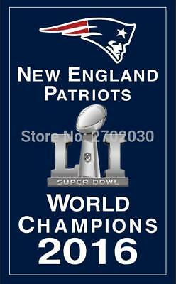NFL New England Patriots 2016 Super Bowl Champions Banner Flag - 3X5 FT